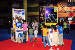 Cliente 2008 di Gitex - zona libera di gioco Fotografia Stock