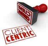 Cliente Céntrico Palavras Stamped Certified Cliente Focused Empresa ilustração royalty free