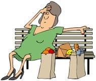 Cliente cansado ilustração do vetor