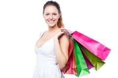 Cliente con i sacchetti Immagini Stock