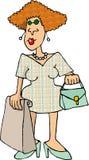 Cliente da mulher ilustração royalty free