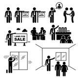 Cliente de Real Estate Client del agente de la propiedad Fotografía de archivo libre de regalías