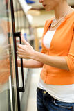 Cliente del supermercato Fotografie Stock