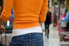 Cliente del supermercato Fotografie Stock Libere da Diritti