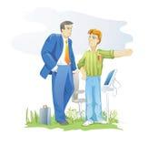 Cliente e desenhador Imagens de Stock Royalty Free