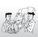 Cliente en taller de la reparación Fotografía de archivo
