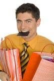 Cliente felice immagini stock libere da diritti