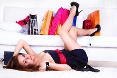 Cliente femenino joven Imagen de archivo libre de regalías