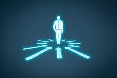Cliente individual e individualidad ilustración del vector