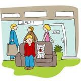 Clientes al aire libre de la alameda stock de ilustración