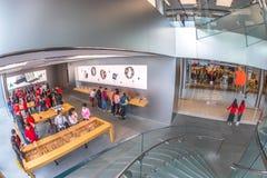 Clientes de Apple Store Imagem de Stock