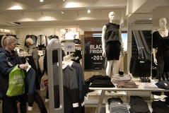 CLIENTES DE BLACK FRIDAY Imagem de Stock