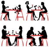 Clientes do café Imagens de Stock Royalty Free