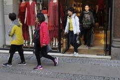 CLIENTES EM COPENHAGA Imagens de Stock Royalty Free