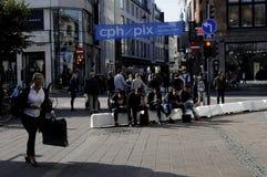 CLIENTES EM COPENHAGA Imagens de Stock