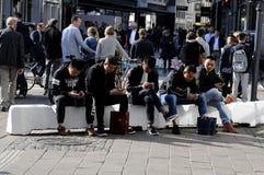 CLIENTES EM COPENHAGA Foto de Stock
