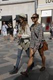 Clientes no stroeget durante a semana de moda Fotos de Stock Royalty Free