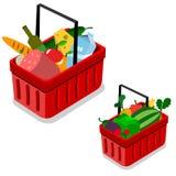 Clientes que compram no supermercado Imagem de Stock