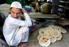 Gente en el valle del golpe violento, Paquistán septentrional Fotos de archivo