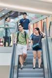 Clienti al centro commerciale di Livat, Pechino, Cina Fotografia Stock