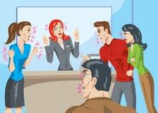 Clienti arrabbiati illustrazione di stock