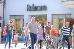 Clienti di Fielmann Fotografia Stock