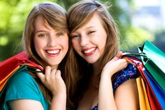 Clienti felici Fotografia Stock Libera da Diritti