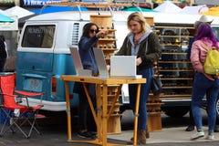 Clienti a Smorgasburg, Los Angeles Fotografia Stock Libera da Diritti