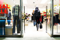 Clients au centre commercial Photographie stock