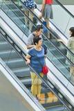 Clients au centre commercial de Livat, Pékin, Chine Photos stock