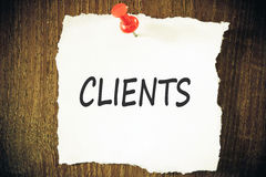 Clients concept Stock Image
