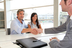 Clients confirming contract Stock Photos