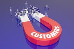 Clients Magent attirant de nouvelles personnes Word illustration libre de droits