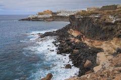 Clif nel salvaje di Callo, isole Canarie di Tenerife immagini stock libere da diritti