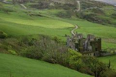 Clifden城堡在北爱尔兰 免版税库存照片