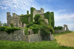 Clifden Castle. Ruined Castle on the Sky Road, Connemara, Ireland Stock Image