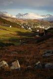 Clifden en de mening van Bergen Connemara Royalty-vrije Stock Foto's