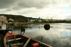 Clifden harbor Stock Photo