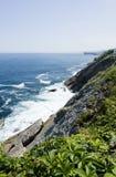 Cliff. Sunny coastline in llanes north of spain Stock Photo