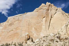 Cliff. A cliff with blue sky, Utah, United States of America stock photos