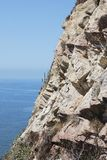 The Cliff. Of Mazatlan Lighthouse Hill facing the ocean (Mexico Royalty Free Stock Photography