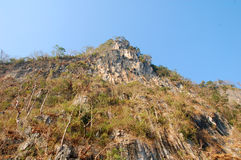 Cliff. Steep mountain cliffs.rock, rocky stock photography
