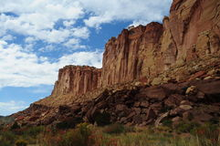 Cliff. In the desert of Utah, United-States Royalty Free Stock Photography