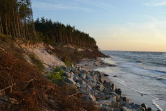 Cliff. The highest cliff in Poland on the Baltic sea stock photos