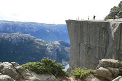 Cliff. The Preikestolen in Norway - Europe Royalty Free Stock Images