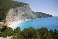 Cliff. Beach of Porto Katsiki stock photo