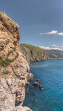 Cliff above the sea Royalty Free Stock Image