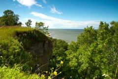 Cliff above the sea Stock Photos