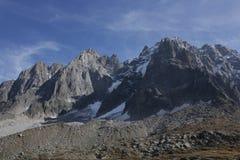 Cliff Aiguille du Midi Imagens de Stock Royalty Free
