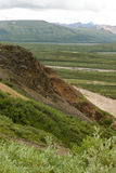 Cliff of the Alaska Range. Within Denali National Park Royalty Free Stock Photo